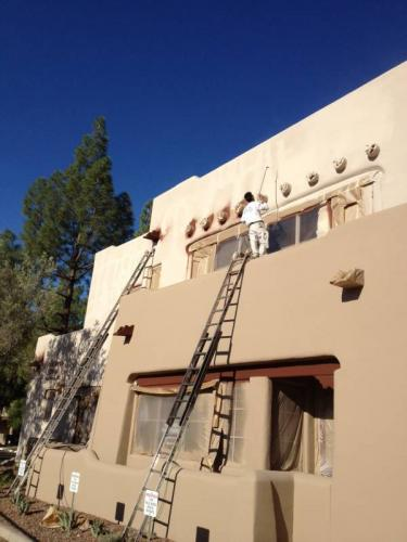stucco exterior house painting