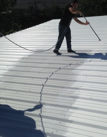 flat roof painting